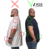 5XL T-shirt before and after round neck black